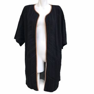 Missoni Black Knit Long Cardigan With Leat…